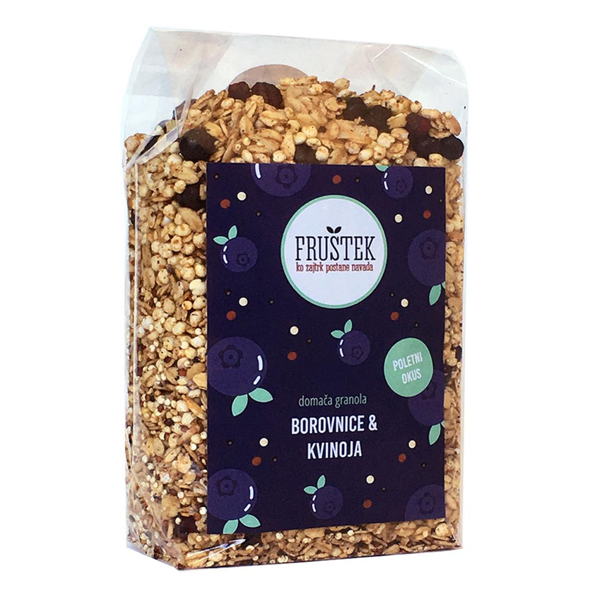 Fruštek domača granola Borovnice in kvinoja