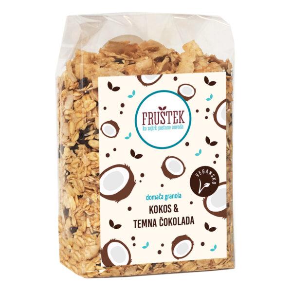 Fruštek domača granola Kokos in temna čokolada
