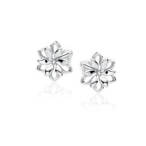LuLu Diamonds - Uhani LOTUS iz 925 srebra