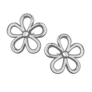 LuLu Diamonds - Srebrni uhani DAISY
