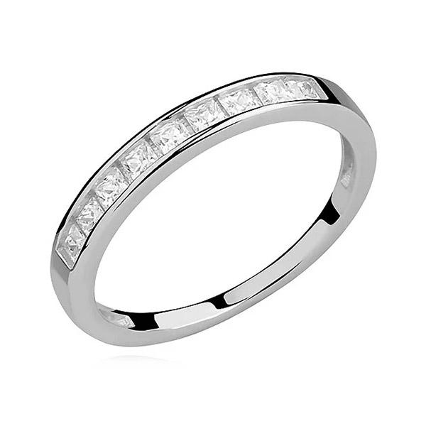 LuLu Diamonds - Srebrni prstan PRINCESS